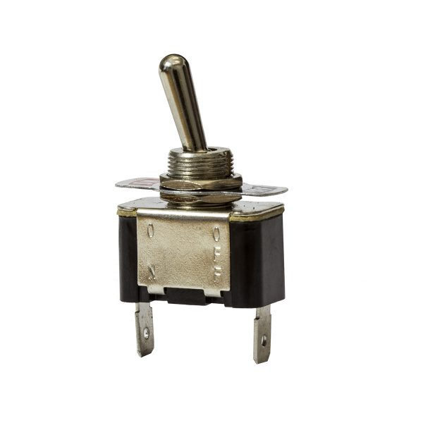 Metal Toggle Switch, On/Off, 20Amps at 12V, 10Amps at 24V, Bulk Qty 1