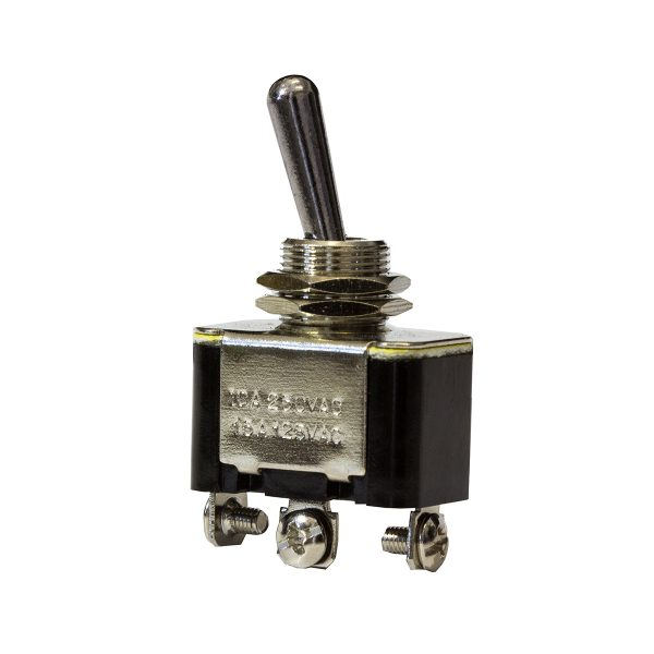 Metal Toggle Switch, On/Off/On, 20Amps at 12V, 10Amps at 24V, Bulk Qty 1