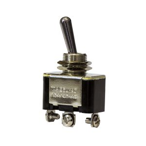 Metal Toggle Switch, On/Off/On, 20Amps at 12V, 10Amps at 24V, Retail Blister Qty 1