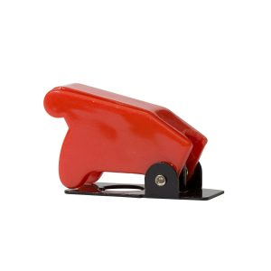 Red Toggle Switch Safety Cover to Suit Metal Toggle Switch (Model No. KT71007), Retail Blister Qty 1