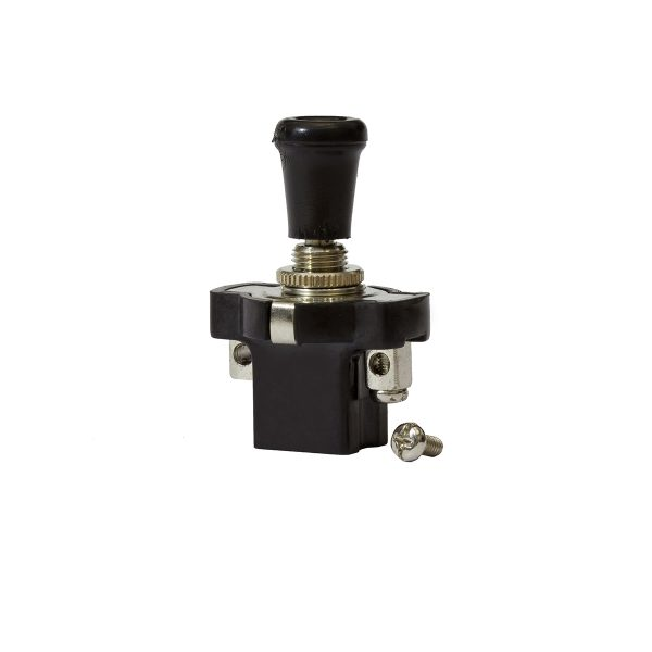 Short Push-Pull Switch, On/Off, 16Amps at 12V, Retail Blister Qty 1