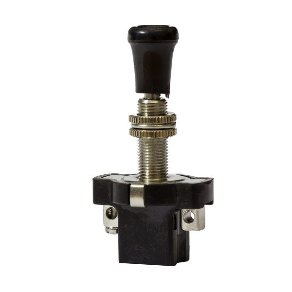 Long Push-Pull Switch, On/Off, 16Amps at 12V, Retail Blister Qty 1