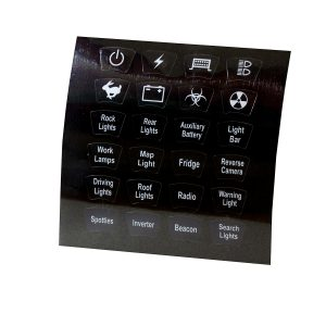 Rocker Switch 24 Icon Sticker Kit to Suit Sealed Rocker Switches for Automotive & Marine Applications
