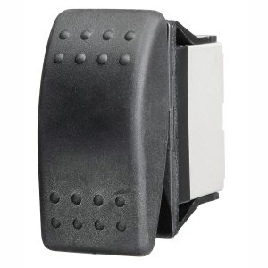 Sealed Blank Rocker Switch, On/Off, 16Amps at 12V, Retail Blister Qty 1