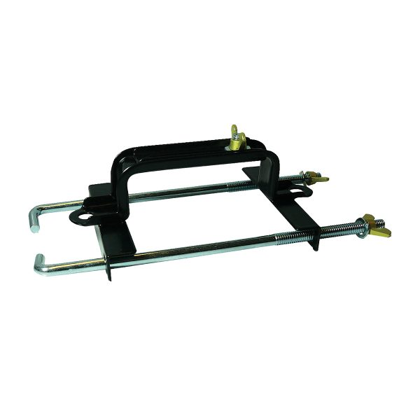 Battery Hold Down Clamp, Adjustable, 225mm Bolt, Suits 125mm - 180mm