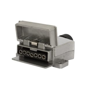 7 Pin, Flat Trailer Socket, Metal