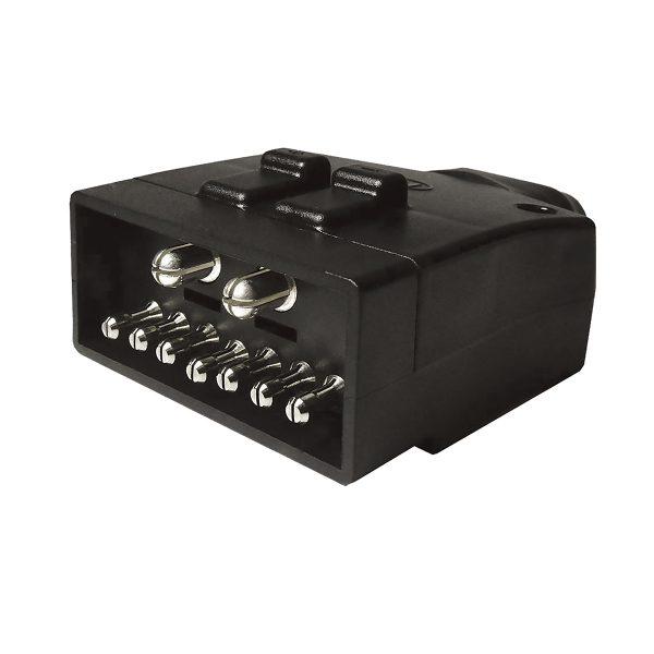 Plug, Male, 9 Pin, Flat, (7 Pin + 50Amp Connector)