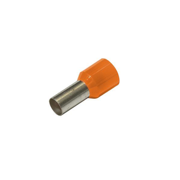 Bootlace Ferrules, Long - Orange, 4.0mm_