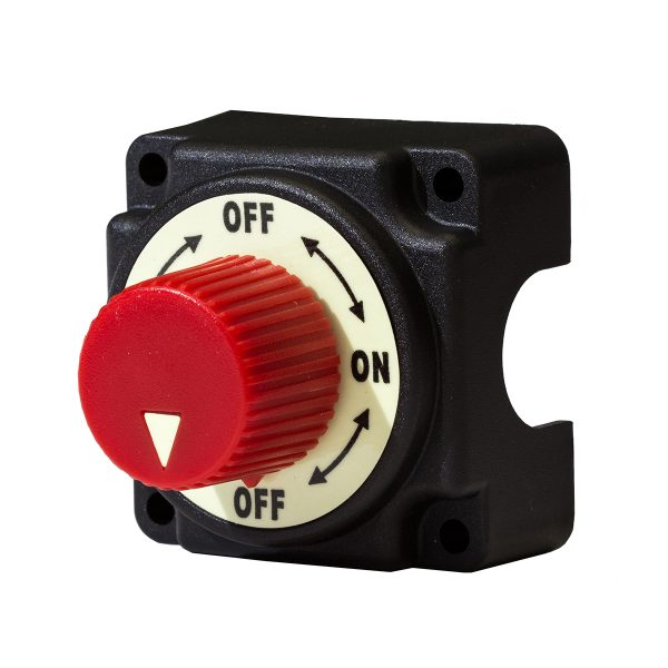 Battery Master Switch, Mounted, Round Knob