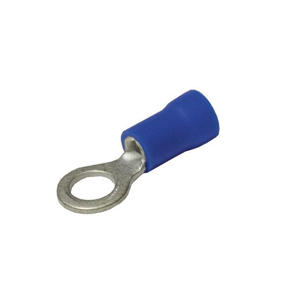 Terminals, Ring, Blue, 10mm, Double Grip