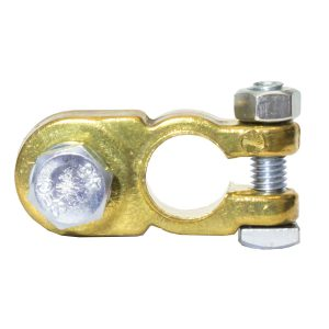 Battery Terminal, Heavy Duty, Negative, 10mm Steel Bolt