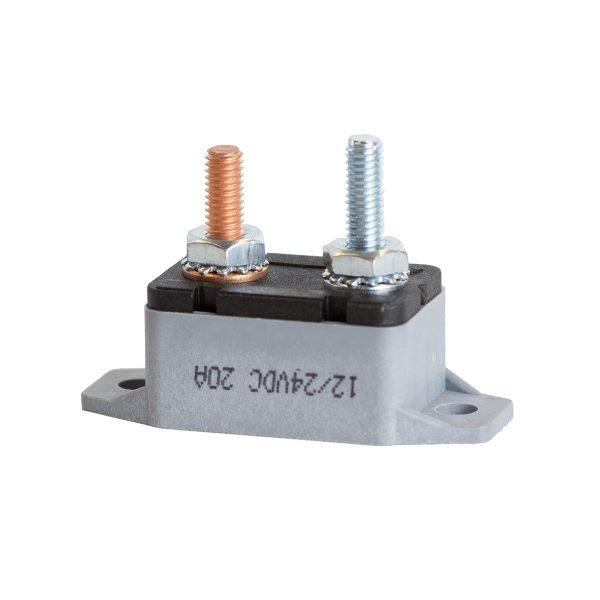 Circuit Breaker, Auto Reset, 20Amp