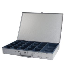 Metal Box, Grey, 21 Compartment