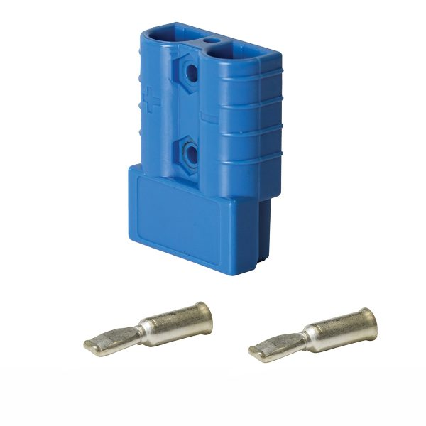Heavy Duty Connector, 50Amp, Blue, Pins Suit 8mm_