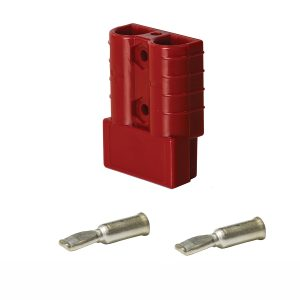 Heavy Duty Connector, 50Amp, Red, Pins Suit 8mm_
