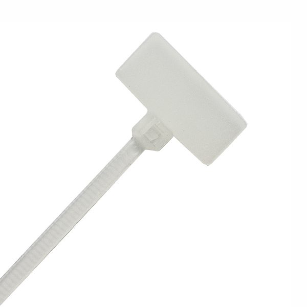 Identification Cable Ties, Natural, 100mm Long x 2.5mm Wide, 20 Pack