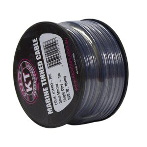 Marine Tinned Single Core Cable, Blue, 4mm, 26/.30 Stranding, 4M Mini Spool