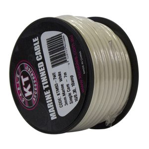 Marine Tinned Single Core Cable, White, 4mm, 26/.30 Stranding, 4M Mini Spool