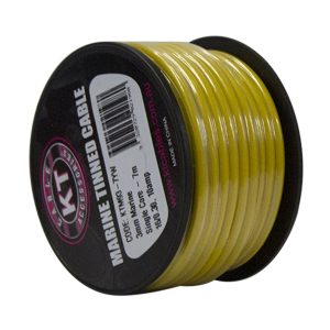 Marine Tinned Single Core Cable, Yellow, 4mm, 26/.30 Stranding, 4M Mini Spool