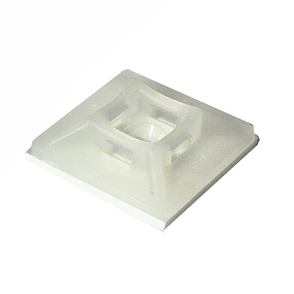 Adhesive Mounting Base, Natural x 19mm, 19mm, Pkt 20