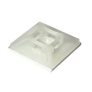 Adhesive Mounting Base, Natural, 28mm x 28mm, Pkt 20