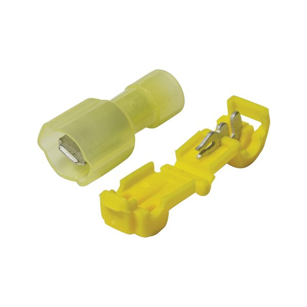 Terminals, Power Take Off, 6.3mm, Yellow, Blister
