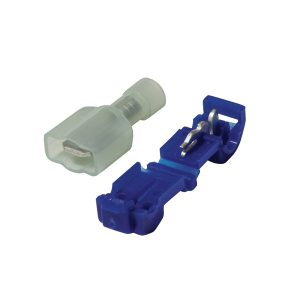 Terminals, Power Take Off, 6.3mm, Blue, Blister