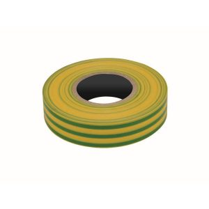 PVC Insulation Tape, Yellow/Green, 19mm x 20M Roll