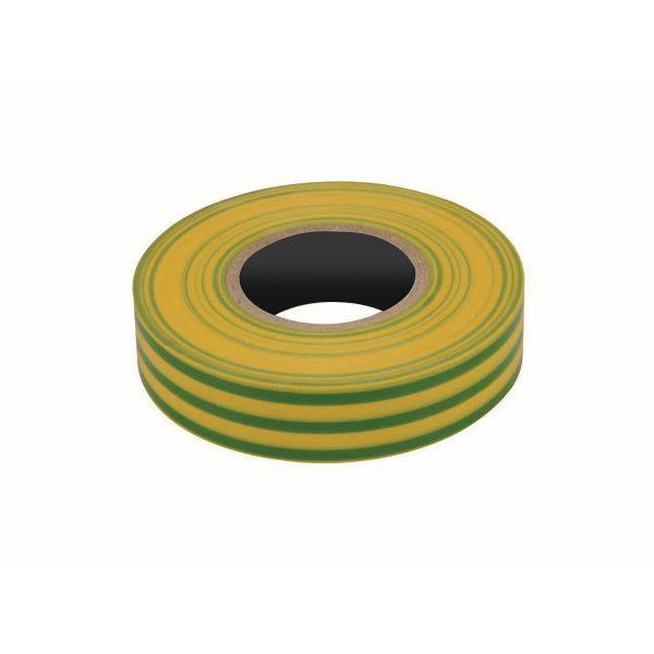 PVC Insulation Tape, Yellow/Green, 19mm x 20M Roll