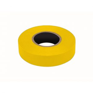 PVC Insulation Tape, Yellow, 19mm x 20M Roll