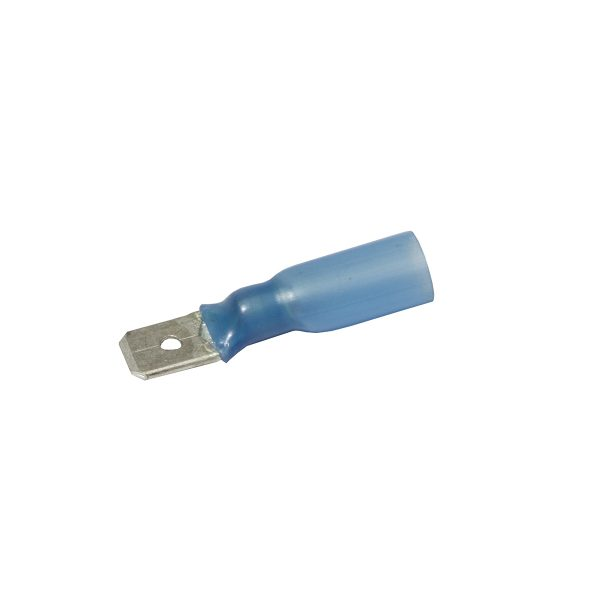 Connector, Waterproof, Male, Blue, 6.3mm