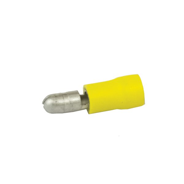 Terminals, Bullet, Male, Yellow, Pack 8
