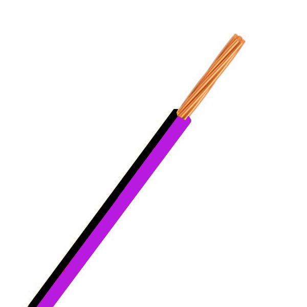 Automotive Single Core Cable, Purple & Black, 4mm, 23/.32 Stranding, 100M