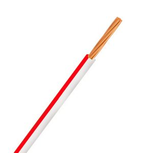 Automotive Single Core Cable, White & Red, 3mm, 14/.32 Stranding, 30M