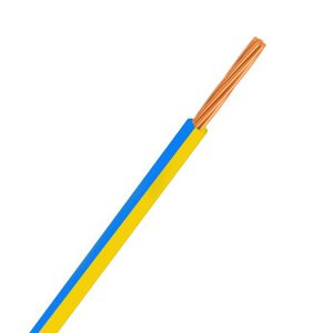 Automotive Single Core Cable, Yellow & Blue, 3mm, 14/.32 Stranding, 30M
