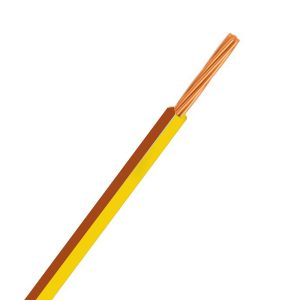 CABLE SINGLE 3MM YELLOW/BROWN 30M 14/.32 STRANDING Product Image 1
