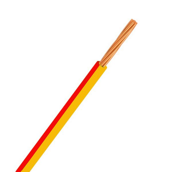 CABLE SINGLE 3MM YELLOW/RED 500M 14/.32 STRANDING Product Image 1