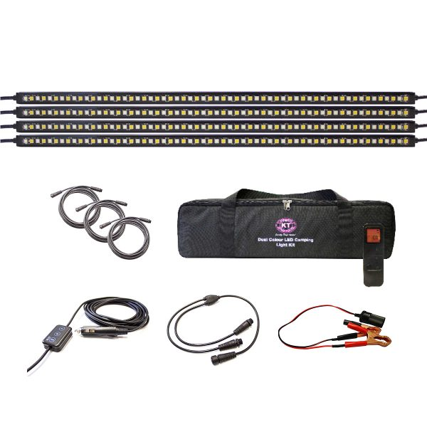 Dual Colour LED Camping Light Kit