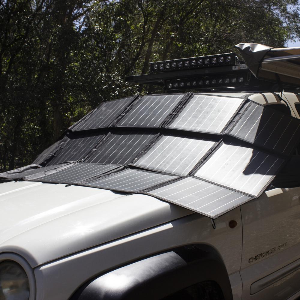 300 Watt 12v Portable Solar Folding Blanket Kt Cables